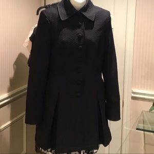Black collared trench inspired coat small fit